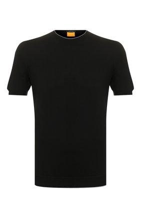 Мужской хлопковый джемпер SVEVO черного цвета, арт. 4650/3SE20/MP46 | Фото 1