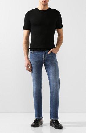 Мужской хлопковый джемпер SVEVO черного цвета, арт. 4650/3SE20/MP46 | Фото 2