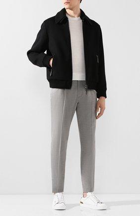 Мужской брюки из смеси шерсти и хлопка Z ZEGNA серого цвета, арт. 7ZF021/73N5C2 | Фото 2