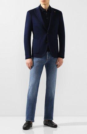 Мужской хлопковый пиджак SARTORIA LATORRE темно-синего цвета, арт. JF74 JE2072 | Фото 2