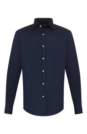 Мужская хлопковая сорочка RALPH LAUREN темно-синего цвета, арт. 791600888 | Фото 1