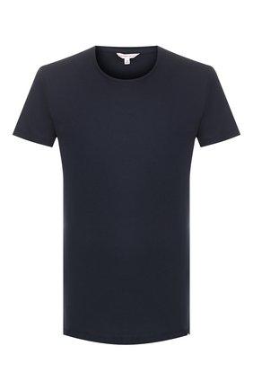 Мужская хлопковая футболка ORLEBAR BROWN темно-синего цвета, арт. 259555 | Фото 1