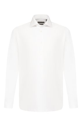 Мужская хлопковая сорочка CORNELIANI белого цвета, арт. 85P100-0111264/00 | Фото 1