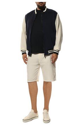Мужские хлопковые шорты LORO PIANA белого цвета, арт. FAE8348 | Фото 2