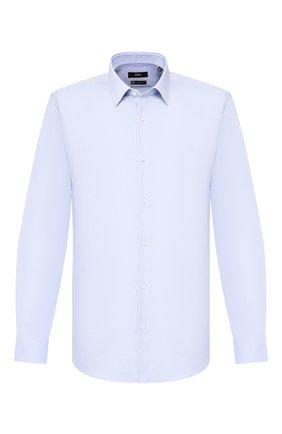 Мужская хлопковая сорочка BOSS голубого цвета, арт. 50428309 | Фото 1