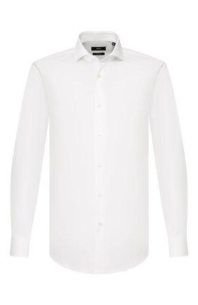 Мужская хлопковая сорочка BOSS белого цвета, арт. 50428223 | Фото 1