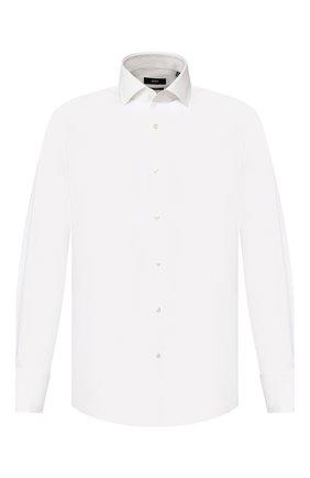 Мужская хлопковая сорочка BOSS белого цвета, арт. 50430433 | Фото 1