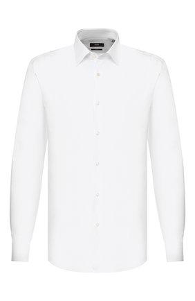 Мужская хлопковая сорочка BOSS белого цвета, арт. 50428534 | Фото 1