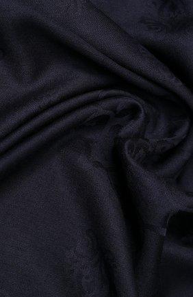 Женский платок из смеси  шерсти и шелка EMILIO CONTE черного цвета, арт. K01414 J1792 | Фото 2