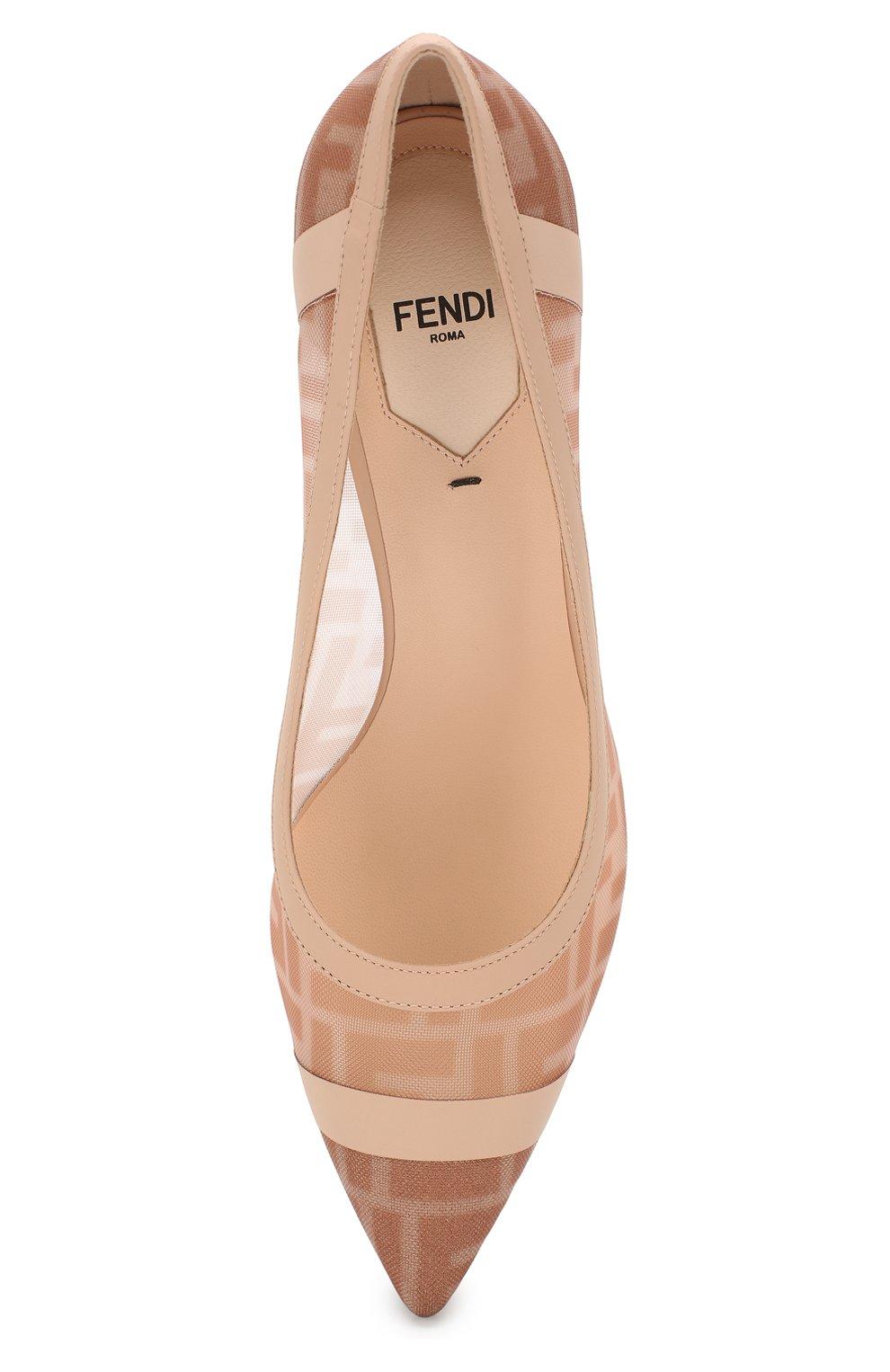 Женские комбинированные туфли FENDI розового цвета, арт. 8I6804 AK11 | Фото 5