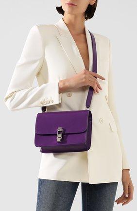 Женская сумка carre SAINT LAURENT сиреневого цвета, арт. 585060/0SX0N | Фото 2