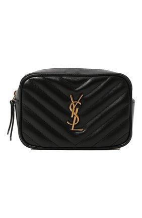 Женская поясная сумка lou SAINT LAURENT черного цвета, арт. 614031/DV707 | Фото 1