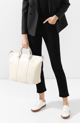 Женская сумка-тоут supple SAINT LAURENT белого цвета, арт. 608958/1R00E | Фото 2