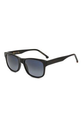 Мужские солнцезащитные очки LORO PIANA черного цвета, арт. FAI4928 | Фото 1