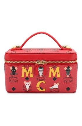 Женская косметичка MCM красного цвета, арт. MWR ASXL03 | Фото 1