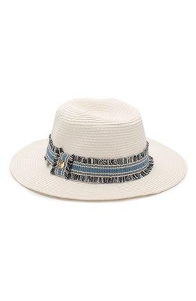 Женская шляпа fedora MELISSA ODABASH белого цвета, арт. FED0RA   Фото 1
