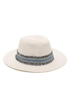 Женская шляпа fedora MELISSA ODABASH белого цвета, арт. FED0RA   Фото 2