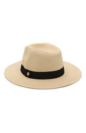 Женская шляпа fedora MELISSA ODABASH бежевого цвета, арт. FED0RA   Фото 1