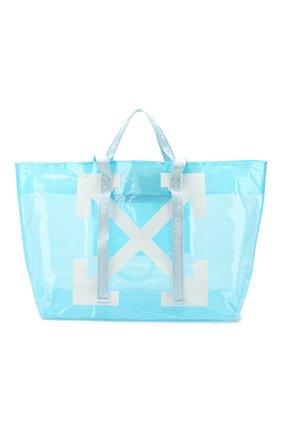 Женская сумка-тоут OFF-WHITE голубого цвета, арт. 0WNA094R20H07071B301 | Фото 1