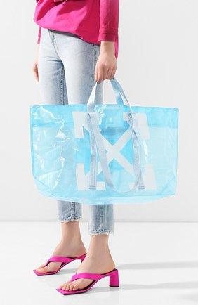 Женская сумка-тоут OFF-WHITE голубого цвета, арт. 0WNA094R20H07071B301 | Фото 2
