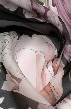 Женский шелковый платок EMILIO CONTE черного цвета, арт. K01414 SF080 | Фото 2