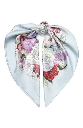 Женский шелковый платок EMILIO CONTE голубого цвета, арт. K09090 SL483 | Фото 1