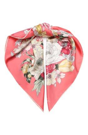 Женский шелковый платок EMILIO CONTE розового цвета, арт. K09090 SL483 | Фото 1