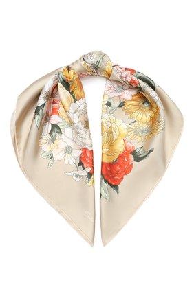 Женский шелковый платок EMILIO CONTE темно-бежевого цвета, арт. K09090 SL483 | Фото 1