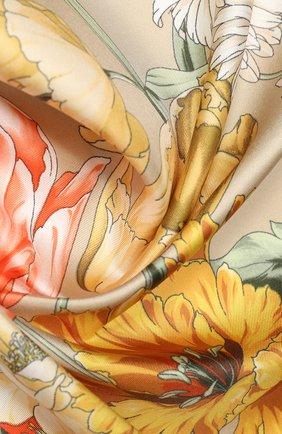Женский шелковый платок EMILIO CONTE темно-бежевого цвета, арт. K09090 SL483 | Фото 2