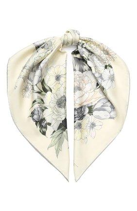 Женский шелковый платок EMILIO CONTE светло-бежевого цвета, арт. K09090 SL483 | Фото 1