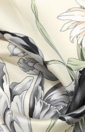 Женский шелковый платок EMILIO CONTE светло-бежевого цвета, арт. K09090 SL483 | Фото 2