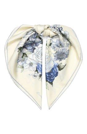 Женский шелковый платок EMILIO CONTE бежевого цвета, арт. K09090 SL483 | Фото 1