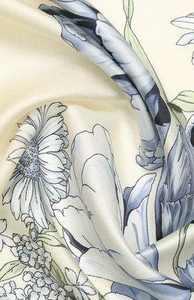 Женский шелковый платок EMILIO CONTE бежевого цвета, арт. K09090 SL483 | Фото 2
