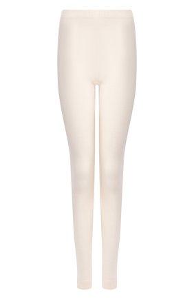 Женские брюки смеси из шелка и кашемира HANRO кремвого цвета, арт. 071652 | Фото 1