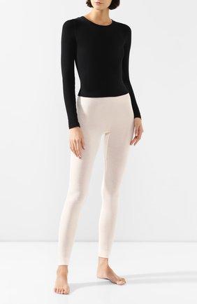Женские брюки смеси из шелка и кашемира HANRO кремвого цвета, арт. 071652 | Фото 2