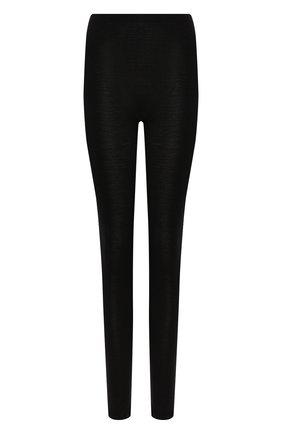 Женские брюки из смеси шерсти и шелка HANRO черного цвета, арт. 071422 | Фото 1