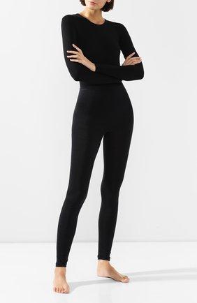Женские брюки из смеси шерсти и шелка HANRO черного цвета, арт. 071422 | Фото 2