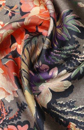 Женский шелковый платок DRIES VAN NOTEN серого цвета, арт. 201-11302 | Фото 2