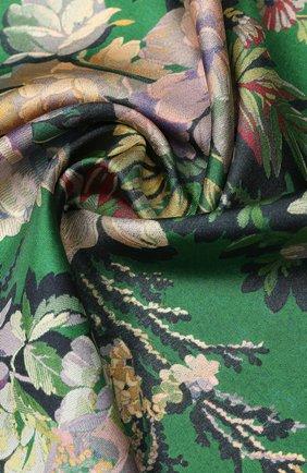 Женский шелковый платок DRIES VAN NOTEN зеленого цвета, арт. 201-11302 | Фото 2