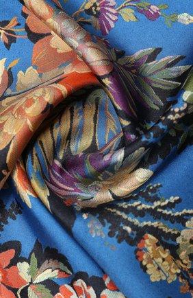 Женский шелковый платок DRIES VAN NOTEN синего цвета, арт. 201-11302 | Фото 2