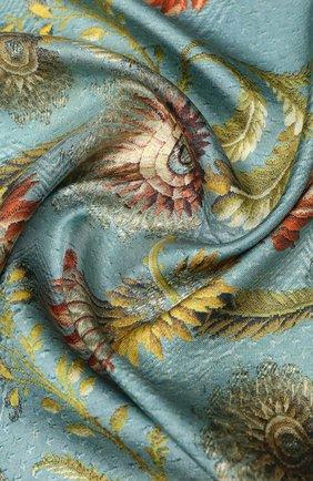Женский шелковый платок DRIES VAN NOTEN голубого цвета, арт. 201-11303 | Фото 2