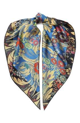 Женский шелковый платок DRIES VAN NOTEN синего цвета, арт. 201-11303 | Фото 1