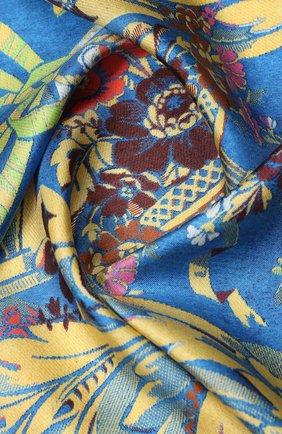 Женский шелковый платок DRIES VAN NOTEN синего цвета, арт. 201-11303 | Фото 2