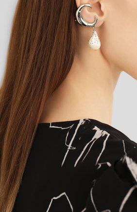 Женские клипсы darcey CHLOÉ серебряного цвета, арт. CHC20SFE72BRG | Фото 2 (Материал: Металл; Женское Кросс-КТ: Клипсы-серьги)