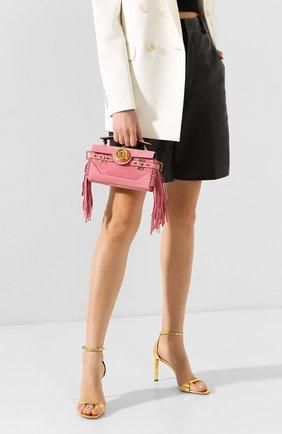 Женская сумка bbuzz 19 BALMAIN розового цвета, арт. TN0S480/LCRF | Фото 2
