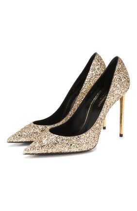 Женская туфли zoe SAINT LAURENT золотого цвета, арт. 602624/EXVM0 | Фото 1