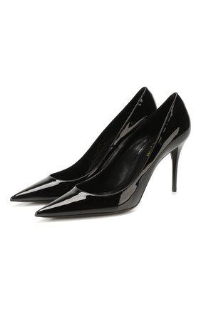 Женские кожаные туфли lexi SAINT LAURENT черного цвета, арт. 603912/0NP00 | Фото 1