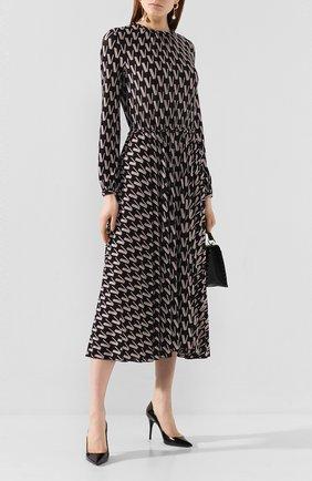 Женские кожаные туфли lexi SAINT LAURENT черного цвета, арт. 603912/0NP00 | Фото 2