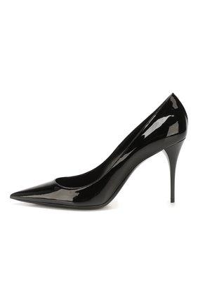Женские кожаные туфли lexi SAINT LAURENT черного цвета, арт. 603912/0NP00 | Фото 3