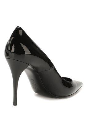 Женские кожаные туфли lexi SAINT LAURENT черного цвета, арт. 603912/0NP00 | Фото 4